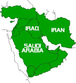 Iraq Iran Arabia Saudi