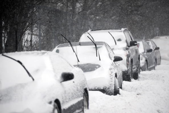 New York coches nieve