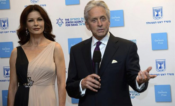 Katherine Zeta Jones y Michael Douglas