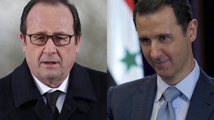 Al Assad y Hollande
