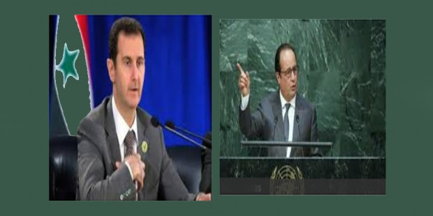 Hollande y Al Assad