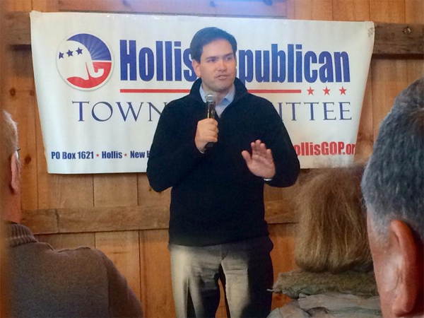 Marco Rubio en New Hampshire