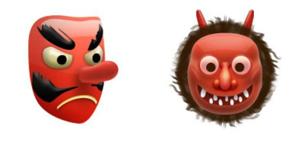 Emoticon Ogro y duende