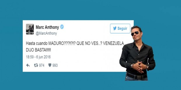 Marc Anthony a Maduro