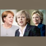 Theresa May Merkel y Clinton
