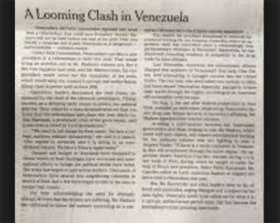 New York Times Editorial 15 08 2016