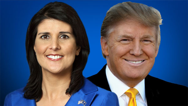 Nikki Haley y Trump