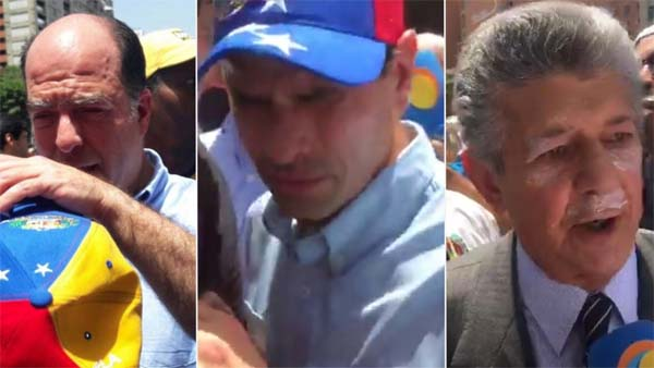 Borges Capriles Ramos Allup heridos