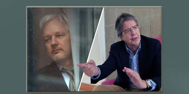 Julian Assange amenaza a Guillermo Lasso