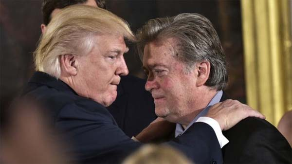 Donald Trump y Stephen Bannon