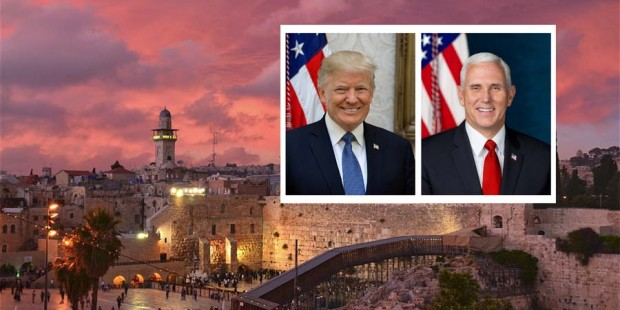 Mike Pence y Donald Trump Israel