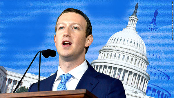 Mark Zuckerberg declara en el Congreso de USA