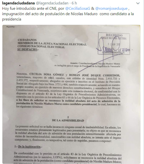 Sosa y Duque documento