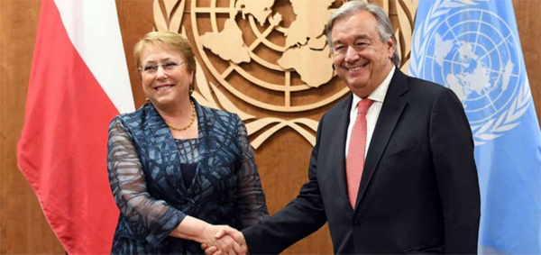 Gueterres y Bachelet