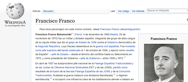 Wikipedia Francisco Franco