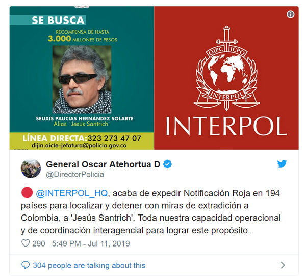 Santrich INTERPOL