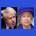 boris johnson e Isabel II