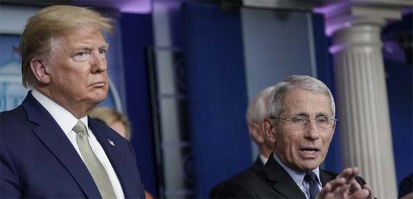 Anthony Fauci y Donal Trump