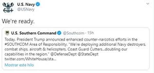 US Navy Tweet
