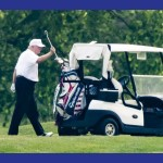 Trump juega al Golf