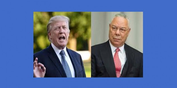 Colin Powell y Donald Trump