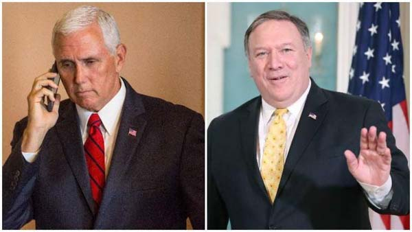 Mike Pence y Pompeo